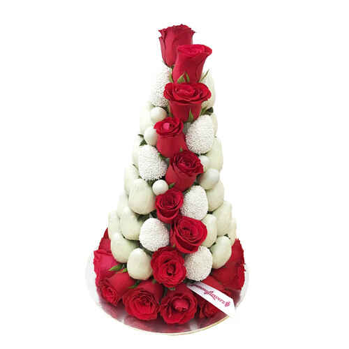 30cm Classic Red Couture Strawberry Tower